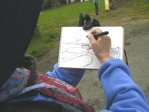 Sketching & Strolling to Santiago, Art Journal Tour Photos